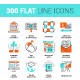 300 Flat Line Icons