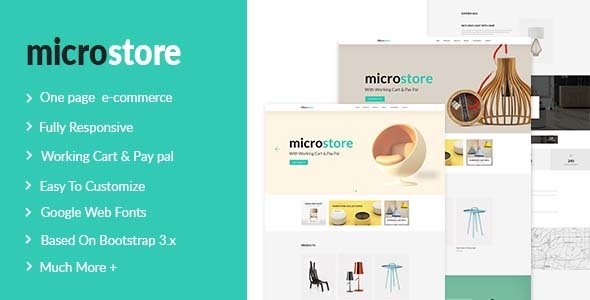 Microstore One Page Multi Purpose eCommerce Templates