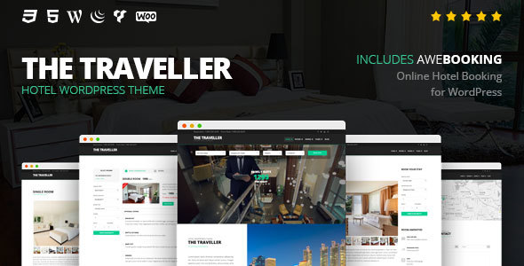The Traveller - Hotel WordPress Theme