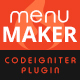 Menu Maker – Codeigniter Plugin (Navigation)
