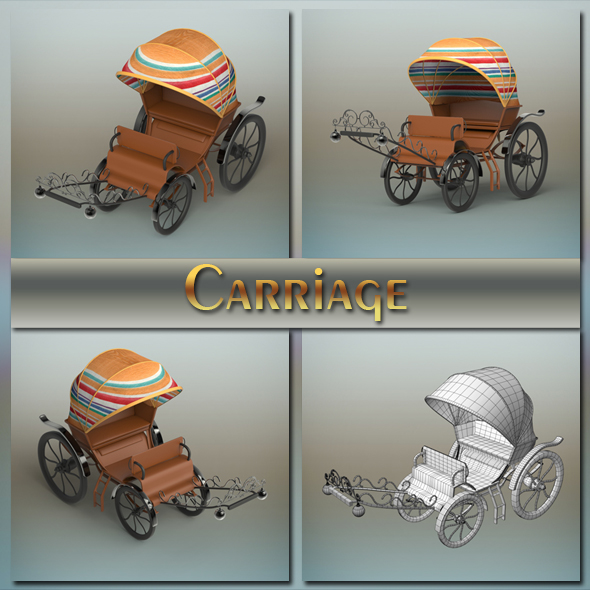Carriage - 3DOcean Item for Sale