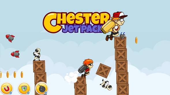 Chester Jetpack game With Admob + IN APP PURCHASE + INCENTIVIZED VIDEO ADS & More (Games) Download