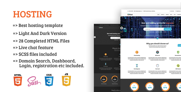 Download Rocket Hosting - Responsive Hosting and Technology Site Template