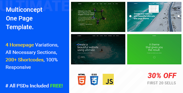 Download Ultimate - A Mega One Page Responsive Template