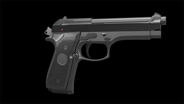 Pistol_M9 - 3DOcean Item for Sale
