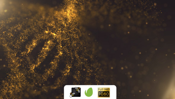 VideoHive Gold Particles 19627548