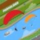 Paraglider Isometric Illustration