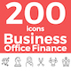 Business, Office, Finance Theme Icons Set