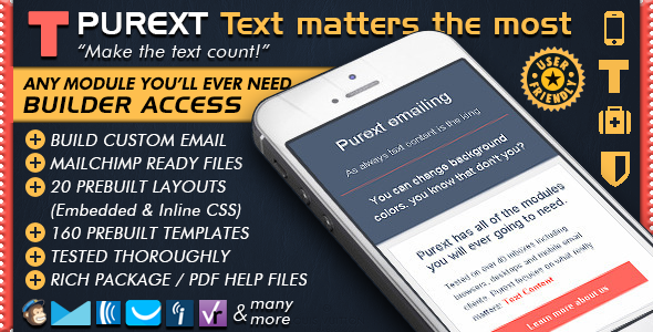 Email Template Design To Send HTML Email Text - Pure Text Newsletter Templates + Editor Access