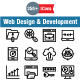 Web Design & Development Line icons
