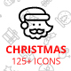 Christmas line icons