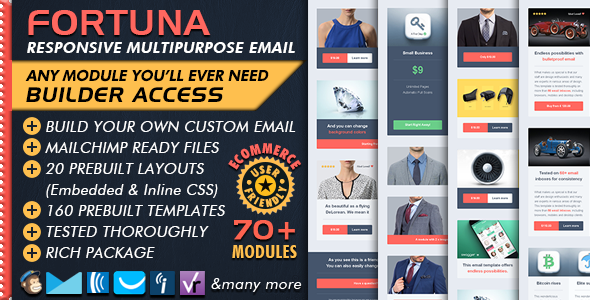 Ecommerce Email Builder - FORTUNA Multipurpose Business Email Marketing + Mailchimp Newsletter Ready