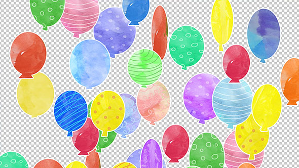 VideoHive Watercolor Balloons Transition 19628710