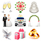 Wedding Icons Vector Set