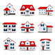 Houses Icons Vector Set