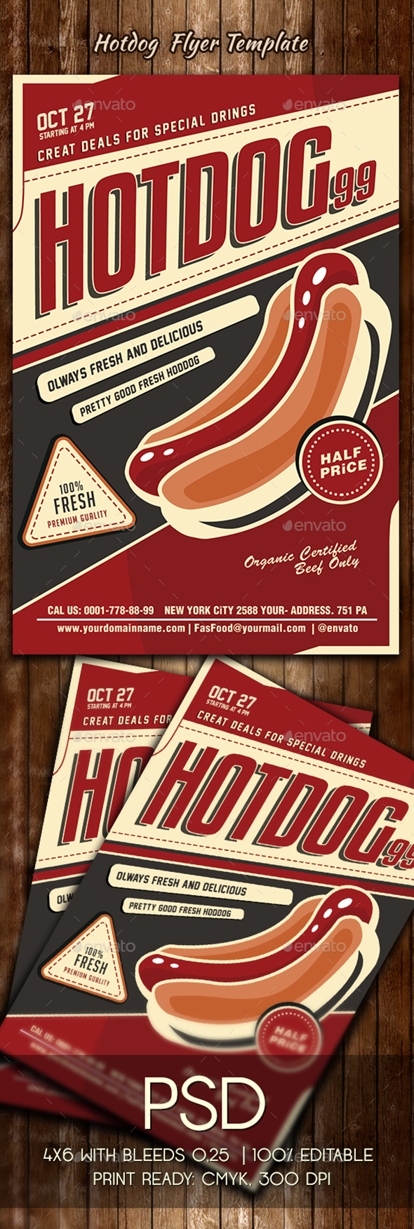 Hotdog Flyer Template