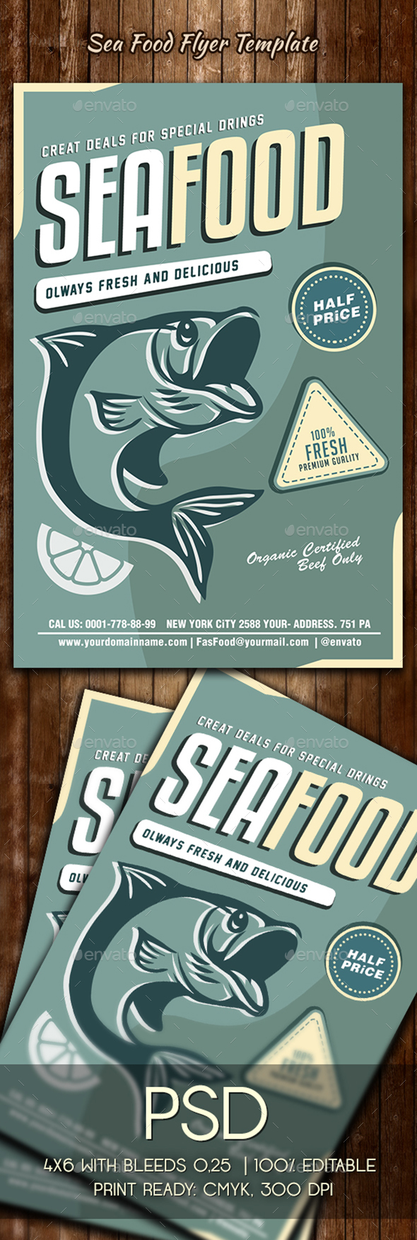 Seafood Flyer Template