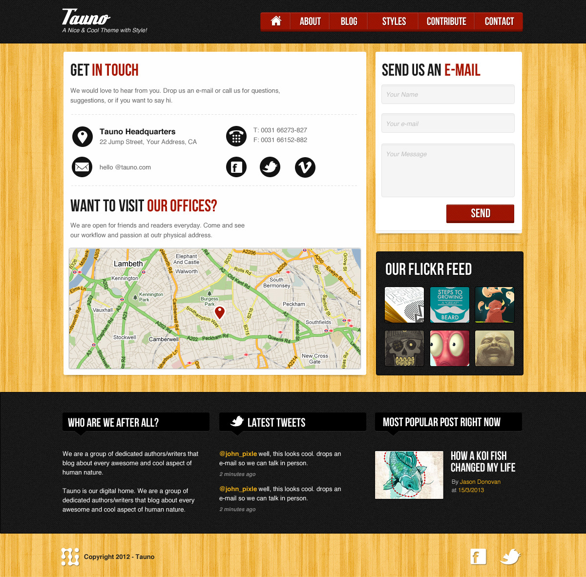 Tauno - A blog HTML template with style