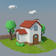 Low Poly House 5