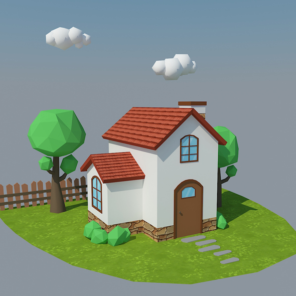 Low Poly House 5 - 3DOcean Item for Sale
