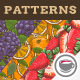 Fruits & Vegetables Vintage Seamless Patterns