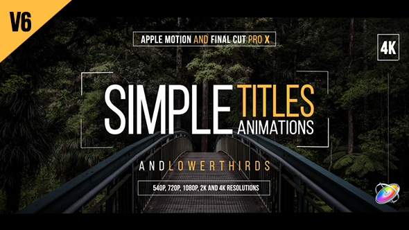 VideoHive 30 Simple Titles for Final Cut Pro X 19631556