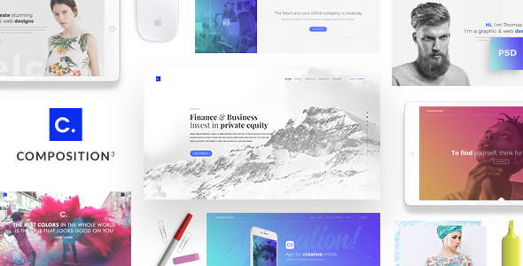Composition No. 3 - Creative Multipurpose PSD Template