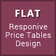Flat - Materialize & Bootstrap Design Pricing Tables