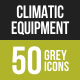Climatic Equipment Greyscale Icons