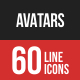 Avatars Filled Line Icons