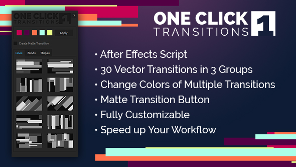 VideoHive One Click Transitions Vol.1 19632638