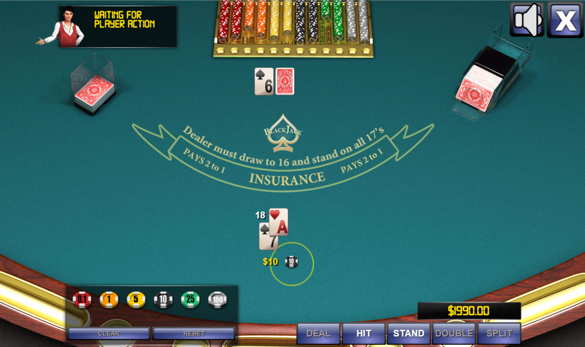 Blackjack table top view - Thumbs 1 Jpg