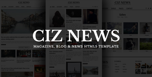 CIZ NEWS - Magazine, Blog & News HTML5 Template