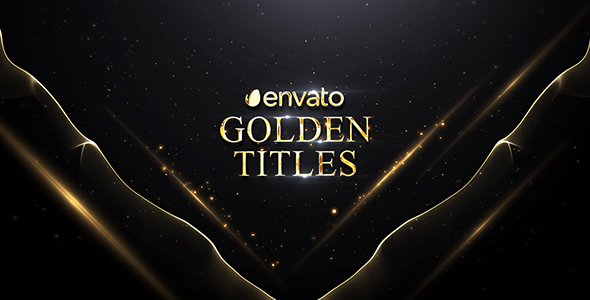 VideoHive Golden Titles 19633584