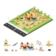 Child Playground Isometric Concept