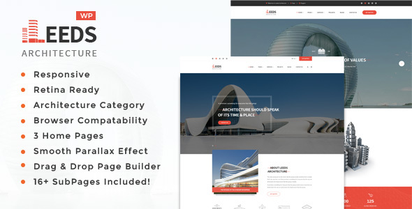Download Leeds - Architecture, Interior and Design WordPress Theme