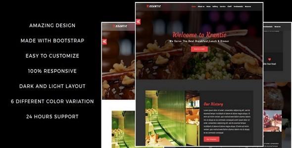 KRANTIC- Responsive Restaurant HTML5 Template