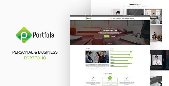 Portfola  - Portfolio PSD Template