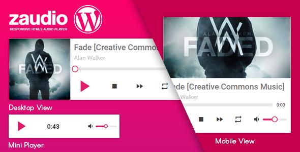 zAudio for WordPress – HTML5 JavaScript Audio Player (Media) Download