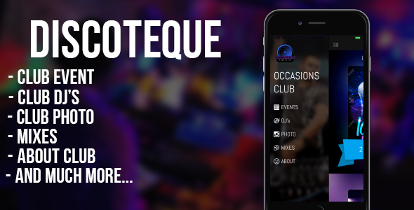 DISCOTEQUE – for night clubs, bars, discos, DJs (iOS) (Full Applications) Download