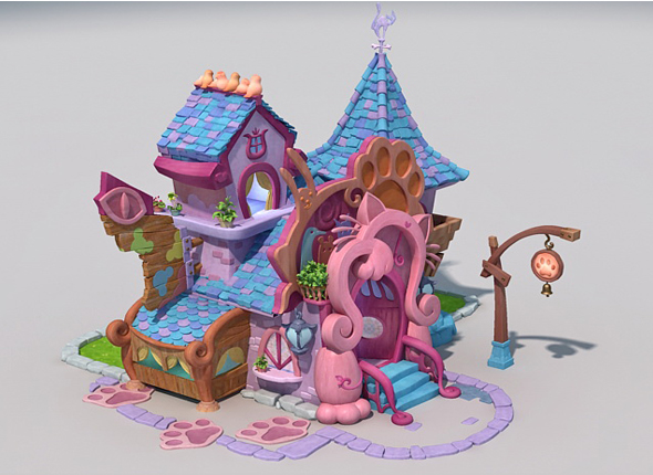 3DOcean lowpoly cartoon house for Pet 19635133