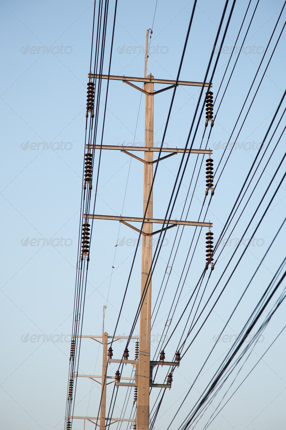 Electricity post - Stock Photo - Images