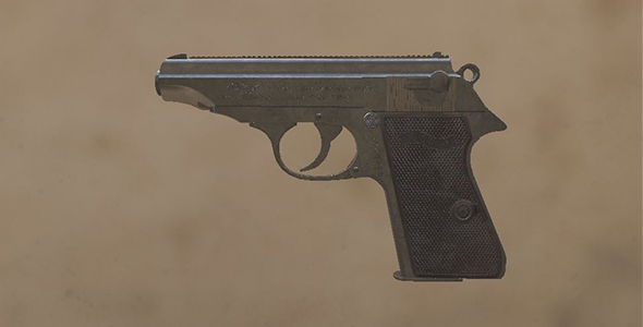 3DOcean Walther PP pistol 19635739