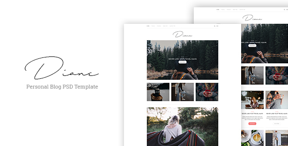 Diane - Personal Blog PSD Template