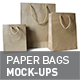 3 Size Paper Bags Mock-ups