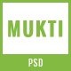 MUKTI - One Page Multipurpose PSD Template
