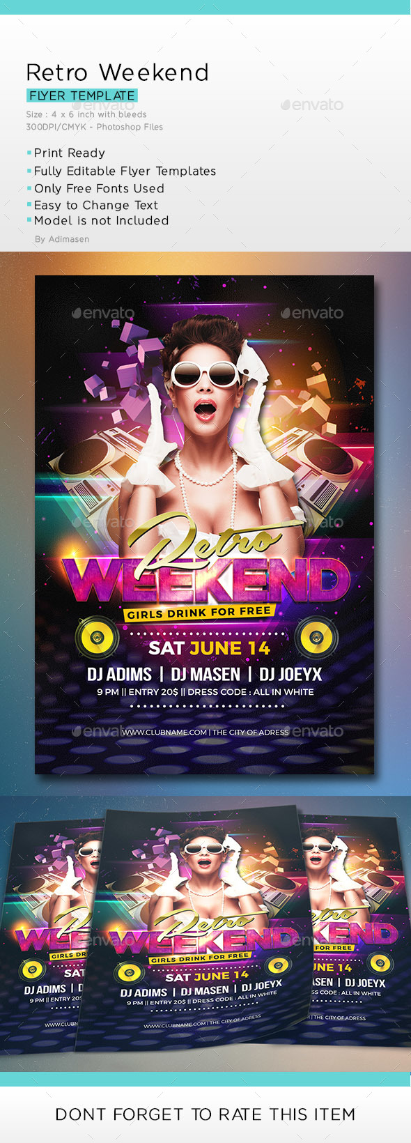 Retro Weekend Flyer
