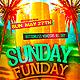 Sunday Funday Party Flyer