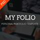 My Folio - Portfolio PSD Template