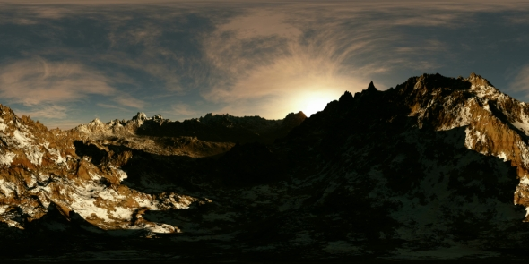 VideoHive VR 360 Panorama of Mountains at Sunset 19637096